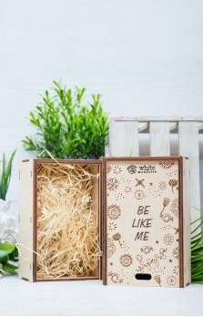 Деревянная эко-коробка «Be like me»