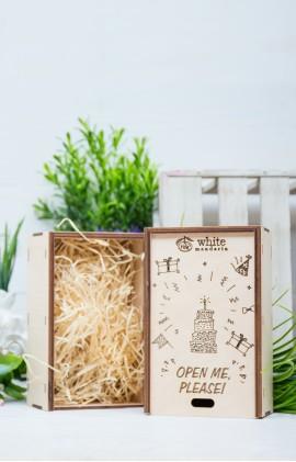 Деревянная эко-коробка «Открой меня, Пожалуйста !»