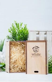 Деревянная эко-коробка «White Mandarin»